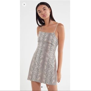 OU Textured Snake Print Mini Dress